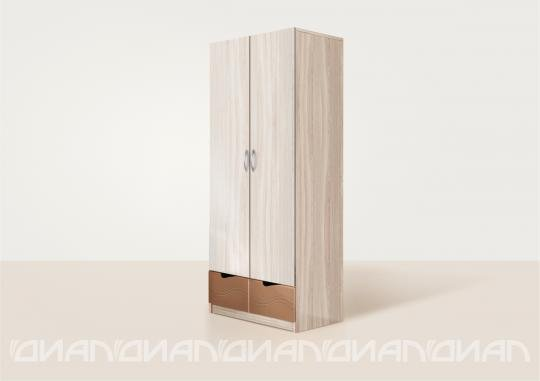 Шкаф двустворчатый Бриз вариант 3 Волна