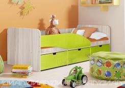 Кровать Бриз вариант 3 Квадрат Лайм