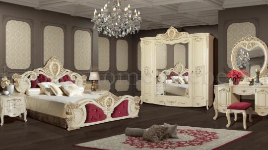 Спальня Беллуччи с 5-ти дверным шкафом (Крем)