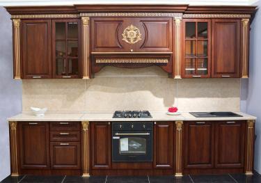 Кухонный гарнитур Валенсия 3,6 м (Орех)