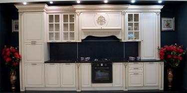 Кухонный гарнитур Валенсия 4,2 м (Крем)