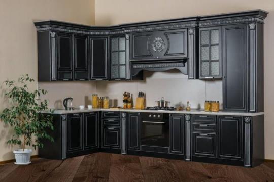 Кухня Валенсия угол 3,6х1,65 м (Черный)