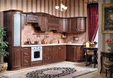 Кухня угловая Марлен орех