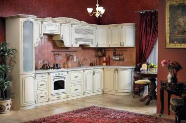Кухня угловая Марлен беж