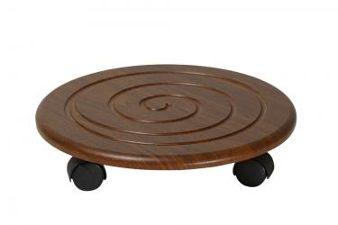 Комплект подставок напольных на колесах Спираль (Орех)