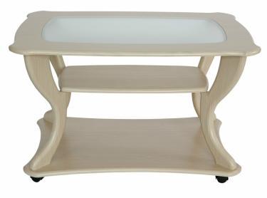 Стол журнальный Маэстро + стекло СЖС-02 (Дуб белый)