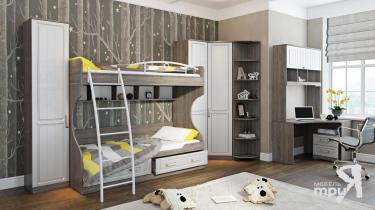 Набор детской мебели «Прованс» №2 (Дуб Сонома трюфель/Крем)