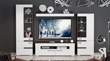 Набор мебели «Фьюжн» (Белый глянец, Венге Линум)