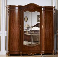 Шкаф 4-х дв. с зеркалом Бриджида