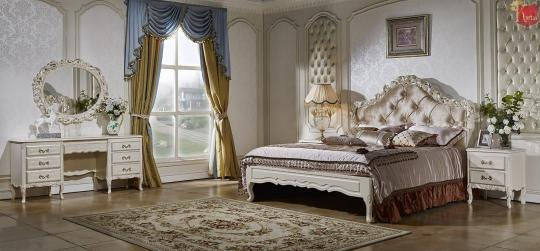 Спальня Виттория (белый/жемчуг)