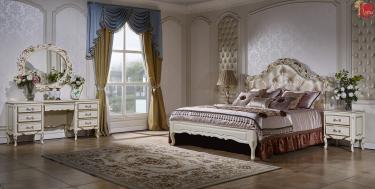 Спальня Виттория (белый/золото)