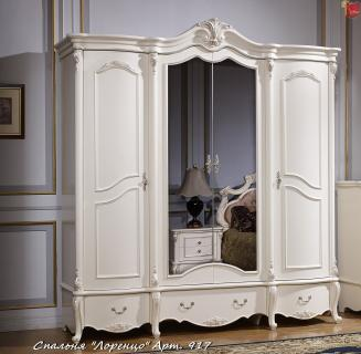 Шкаф 4-х дв. с зеркалом Лоренцо