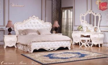 Спальня Мона Лиза (белый глянец+золото)