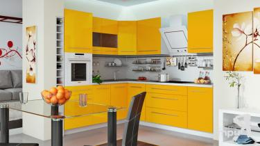 Модульная кухня «Ассорти» (Желтый)