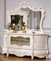 Комод с зеркалом Мона Лиза (Белый+золото)