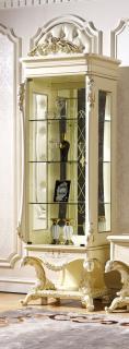 Витрина -1 дв. Левая Роял (слоновая кость+золото)