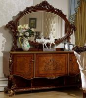 Комод с зеркалом Роял (орех+золото)