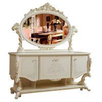Комод с зеркалом Роял (слоновая кость+золото)