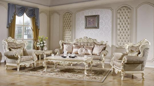 Мягкая мебель Магдалена (слоновая кость+золото)