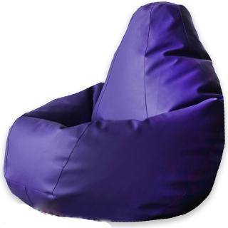 Кресло Мешок Груша Фиолетовая ЭкоКожа
