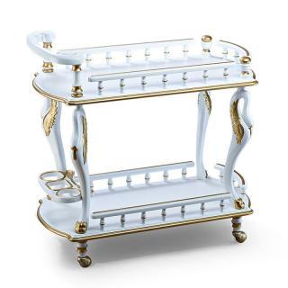 Стол сервировочный Белый с золотом арт. 39