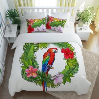 """Постельное белье """"Попугай в тропиках"""""""