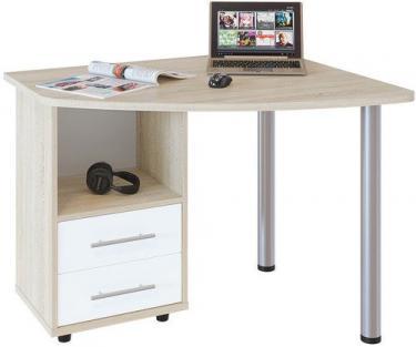 Компьютерный стол КСТ-102Л (Дуб сонома/Белый)