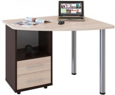 Компьютерный стол КСТ-102Л (Венге/Беленый дуб)