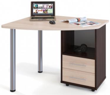 Компьютерный стол КСТ-102П (Венге/Беленый дуб)