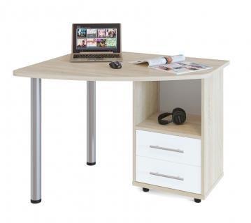 Компьютерный стол КСТ-102П (Дуб сонома/Белый)
