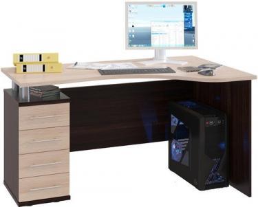 Компьютерный стол КСТ-104.1Л (Венге/Беленый дуб)