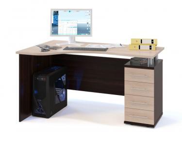 Компьютерный стол КСТ-104.1П (Венге/Беленый дуб)