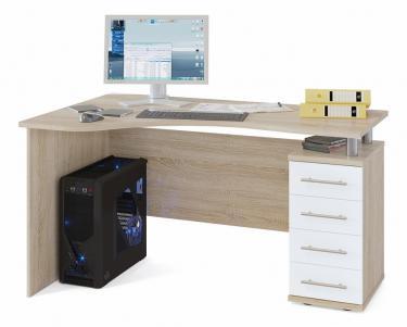 Компьютерный стол КСТ-104.1П (Дуб сонома/белый)