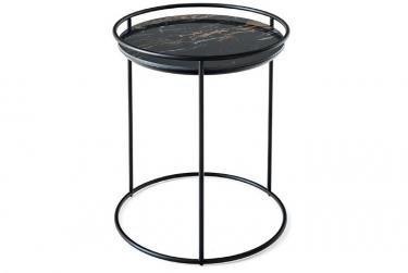 Журнальный стол ATOLLO 50 (черный/коричневый)