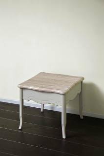 Журнальный столик 600 (серый пикрит / дуб прованс)