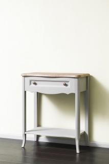 Консольный столик 700 (серый пикрит / дуб прованс)