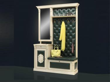Прихожая Благо 5 (Б5.11-13) Карамель-изумруд с патиной и декором