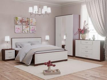 """Спальня """"Оливия"""" (Белое дерево/Орех донской)"""