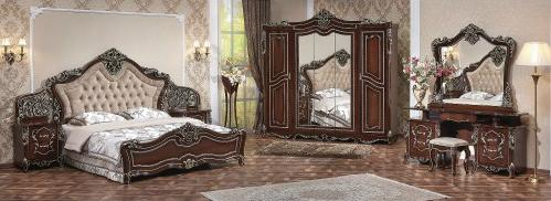 Спальня Джоконда Люкс (орех) с 5-ти створчатым шкафом