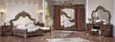 Спальня Венеция (орех) с 6-х дверным шкафом