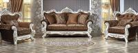Комплект мягкой мебели Оскар 2 (крем / азалия коричневый)