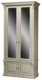 Шкаф 2-х створчатый с зеркалами Б5.15-2 (белый)