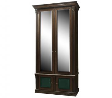 Шкаф 2-х створчатый с зеркалами Б5.15-2 (орех)