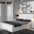Кровать с подъемным механизмом и мягким изголовьем «Скарлет» (Белая)