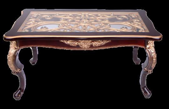 Стол журнальный Версаль со стеклом орех