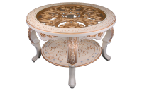 Стол журнальный кругл стекло Версаль