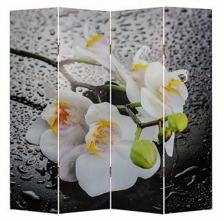 Ширма 1111 Белая орхидея и капли