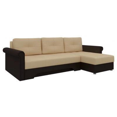 Угловой диван Гранд (Бежевый+Коричневый)