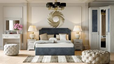 Спальня «Кантри» (Замша синяя/Винтерберг)