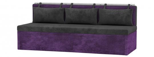 Кухонный диван Метро (Вельвет Люкс Черный Фиолетовый)